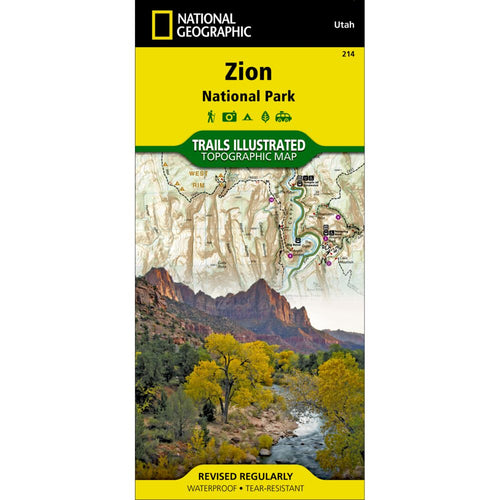Image of Zion National Park Trail Map (#214)
