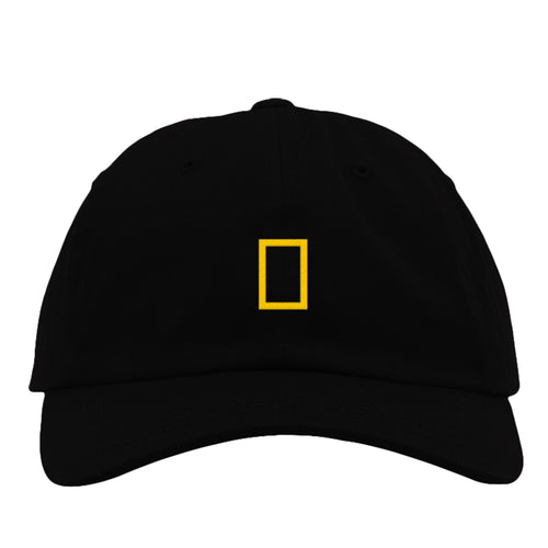 Image of National Geographic Black Hat with Iconic Yellow Logo