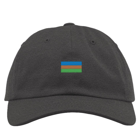 National Geographic Charcoal Hat with Iconic Flag