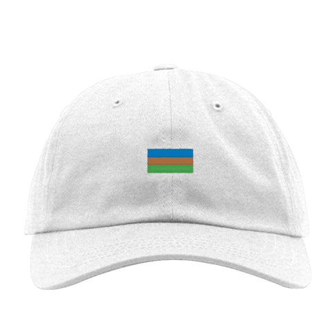 National Geographic White Hat with Iconic Flag