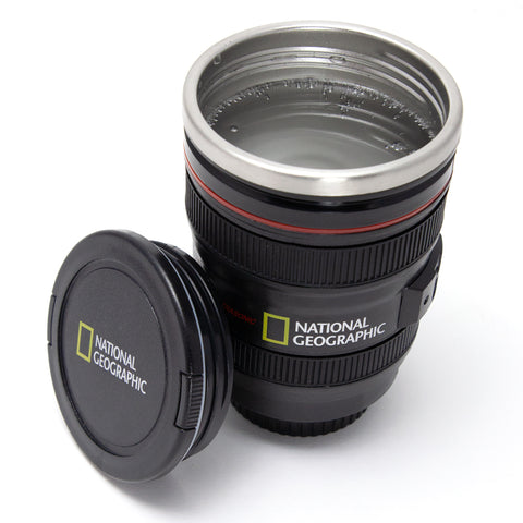 National Geographic Black 13.5 oz Lens Mug