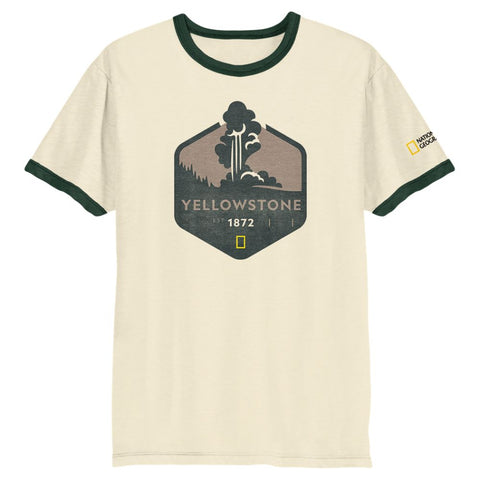 National Geographic Yellowstone Ringer Tee