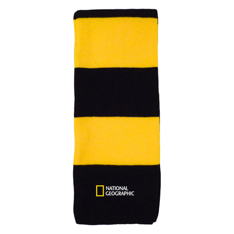 National Geographic Logo Black and Yellow Scarf