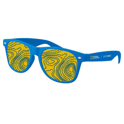 National Geographic Geo Bee Blue Sunglasses