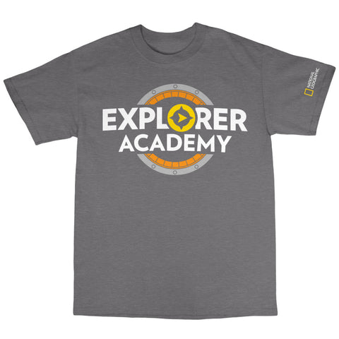 National Geographic Explorer Academy Large Compass Logo Youth Tee
