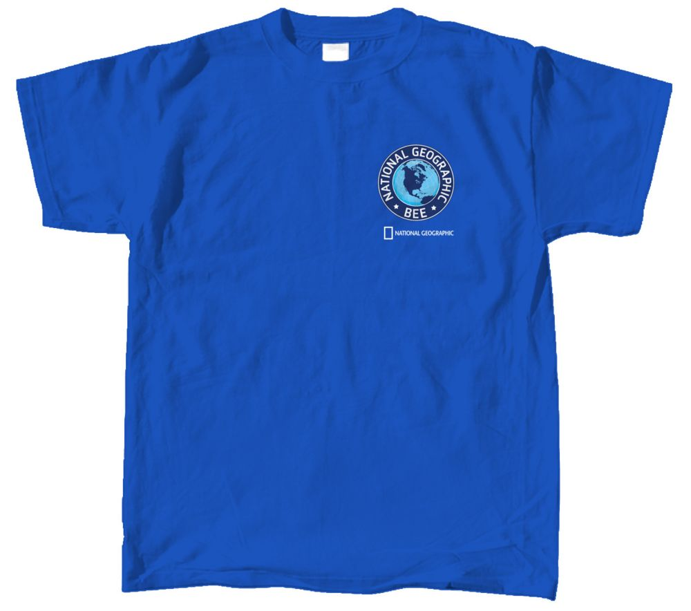 71951465 National Geographic Bee Logo Blue T-shirt | Shop National Geographic