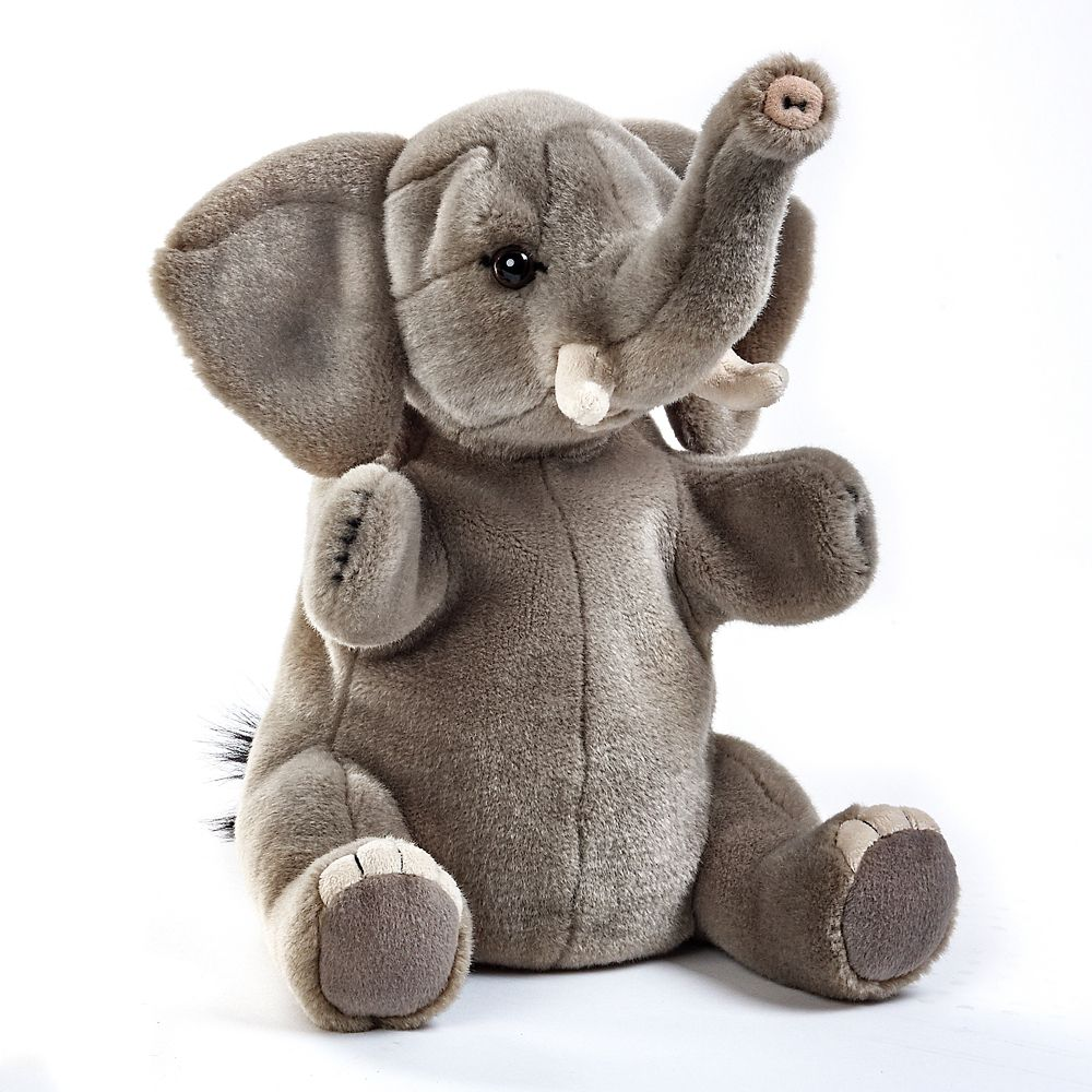 70ed716c81bb Elephant Plush Hand Puppet Toy | Shop National Geographic