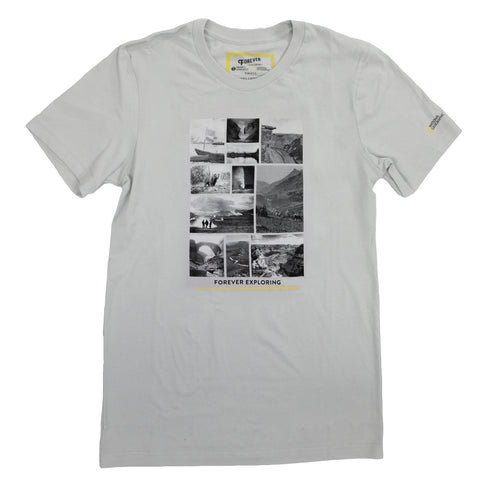 National Geographic Forever Exploring Photo Collage T-Shirt