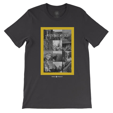 National Geographic Vintage Photo Collage T-shirt