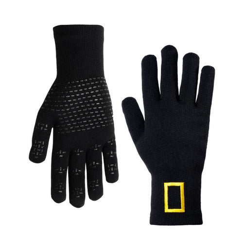 Image of National Geographic Waterproof Wool-Blend Knit Gloves