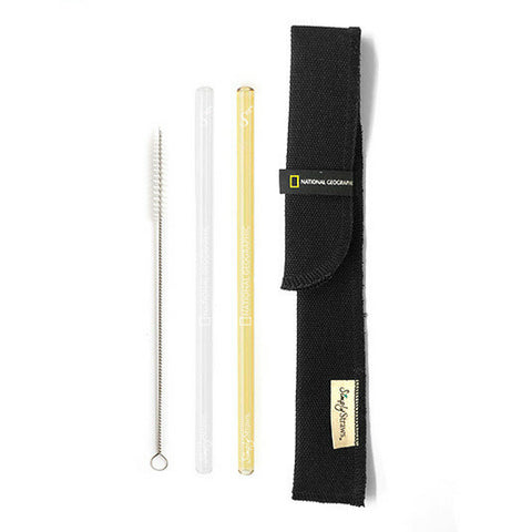 National Geographic Simply Straws Twin Sleeve Set
