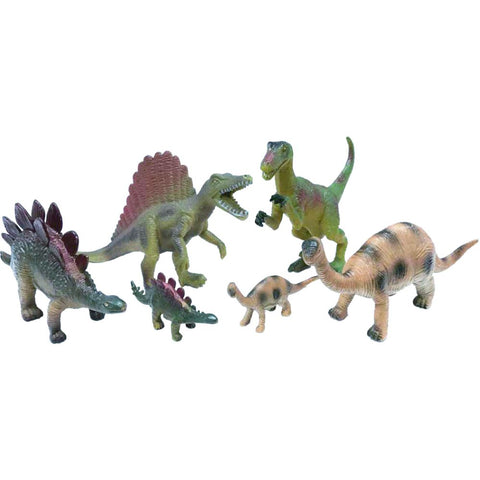 Six-Piece Wenno Dinosaur Figurine Set in Open Touch Box from National Geographic