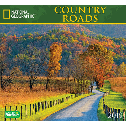 National Geographic Country Roads 2019 Calendar
