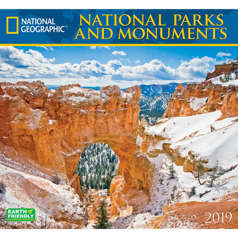National Geographic National Parks & Monuments 2019 Calendar