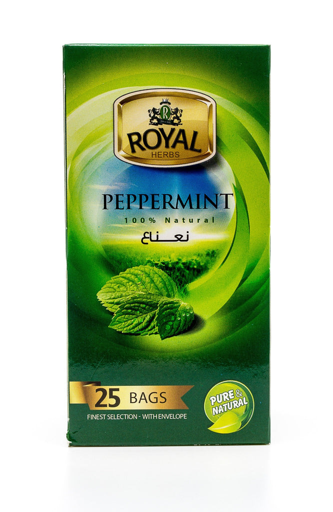Royal Herbs Peppermint (25 Individually wrapped tea bags) نعناع