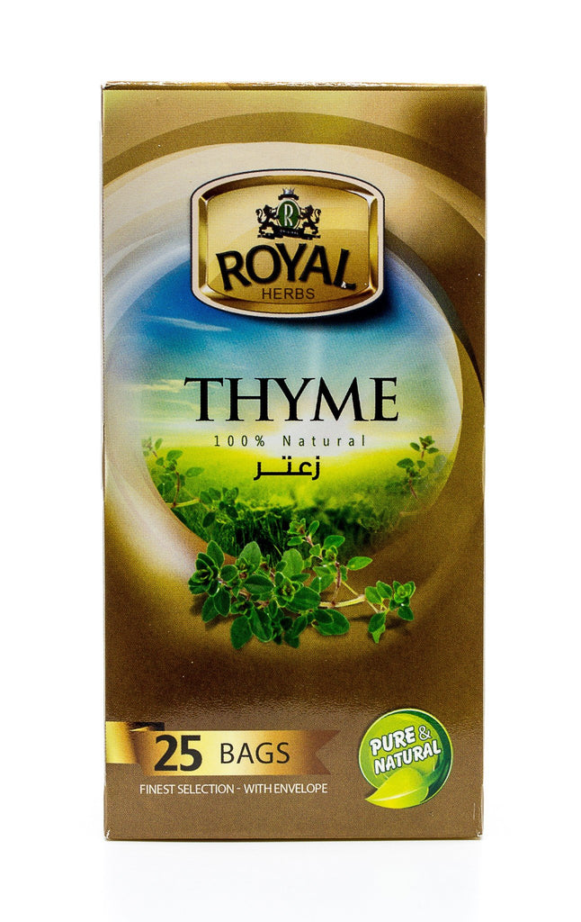 Royal Herbs Thyme (25 Individually wrapped tea bags) شاي الزعتر