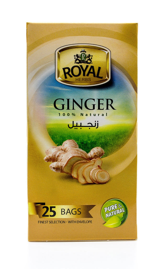 Royal Herbs Ginger (25 Individually wrapped tea bags) شاي الزنجبيل