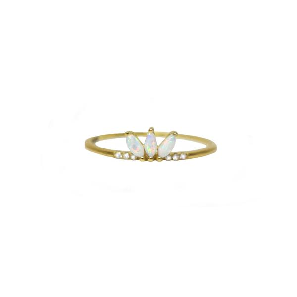 Twinkling Lotus Ring