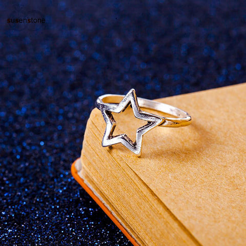 Simple Knot Adjustable Ring for women