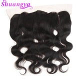 Hair 13x4 Ear To Ear Lace Frontal Closure With Bundles  Brazilian Body Wave Human Hair Bundles With Closure Non Remy