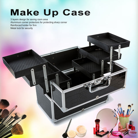 3-Layer Large Make Up Case