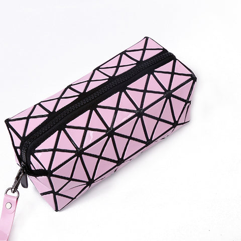 Women Laser Flash Diamond Leather Makeup Bag