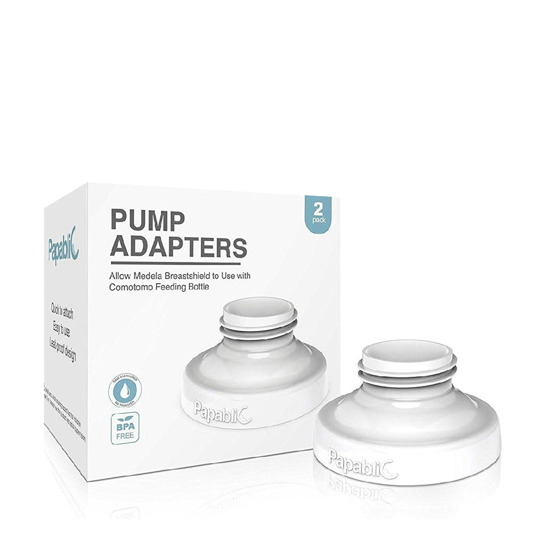 Direct Pump Bottle Adapter - Medela Freestyle, Pump in Style, Harmony, Swing, Ameda Pump Compatible 2pcs