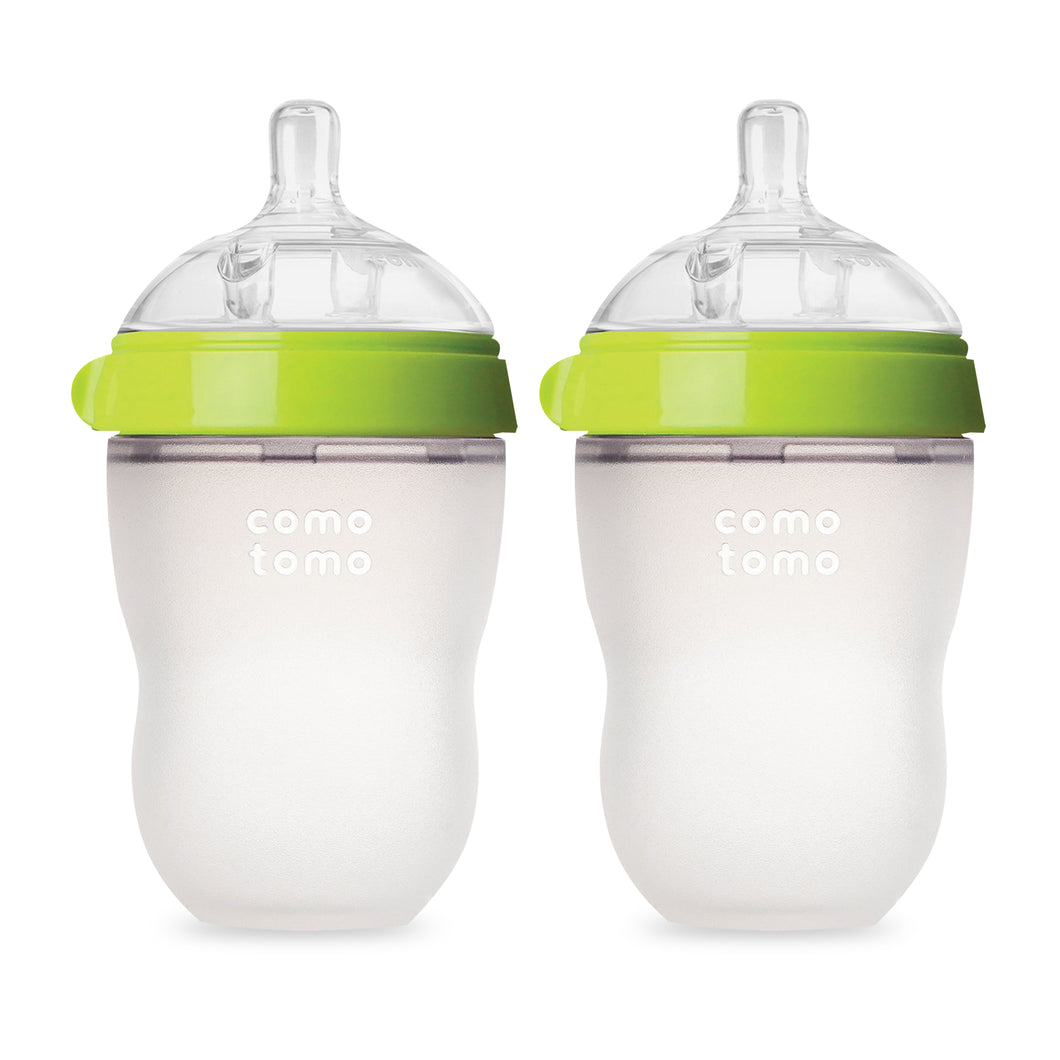 8oz Silicone Baby Bottles - Twin Pack