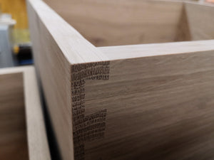 CNC IT NOW 4 - Solid Oak and Birch Plywood Dovetail Drawer Boxes Manufacturing