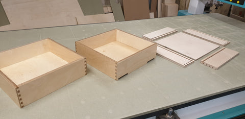 Birch Plywood Dovetail Drawer Boxes / Ply Dovetailed Drawers Standard and Bespoke Sizes