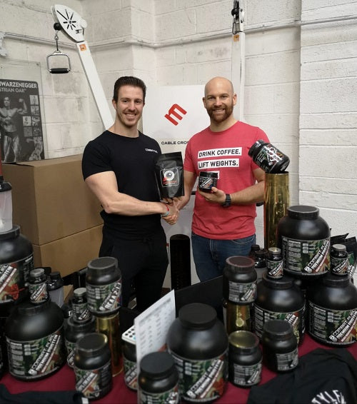 cannonball coffee founder duncan grocock and alex bez from comabt fuel