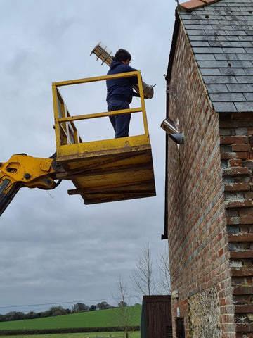 removing a aluminium flue from a roof
