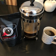 Great looking Cannonball Coffee made using a cafetiere