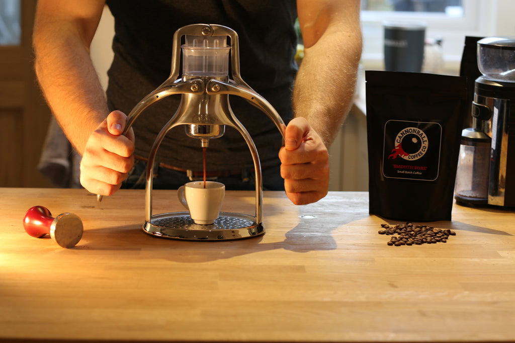 Cannonball Coffee making great espresso in your kitchen