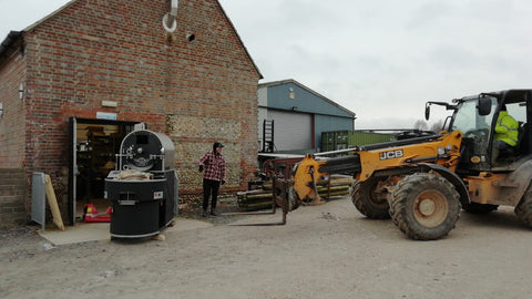 moving the joper roaster out of the old building