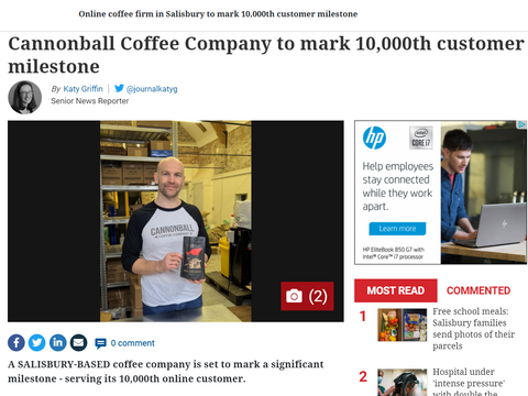 article in salisbury journal about cannonball coffee