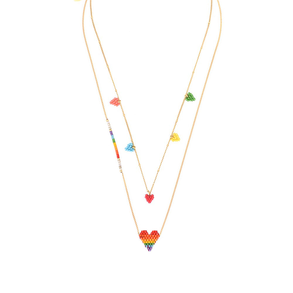 MULTI HEARTSY NECKLACES SET