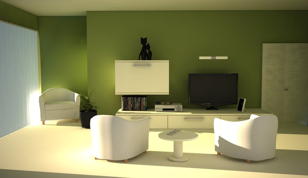 green minimalist living room design ideas