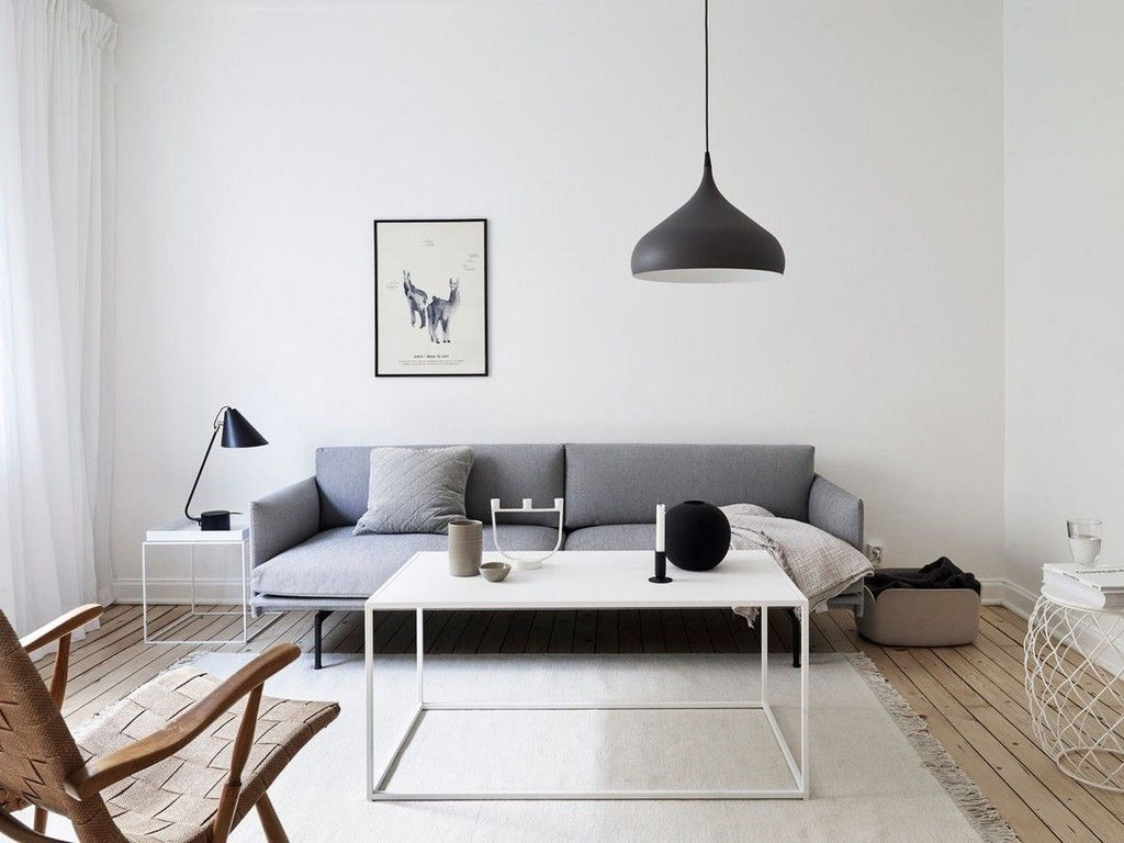 Contemporary lighting in living room