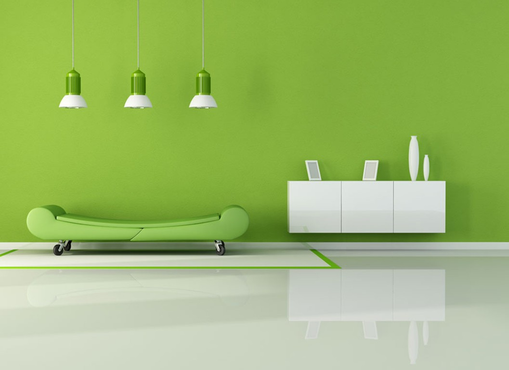green minimalist living room ideas