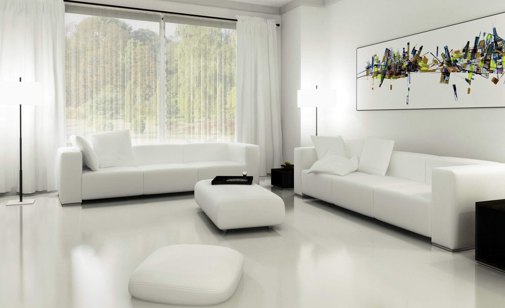 Minimalist white living room design