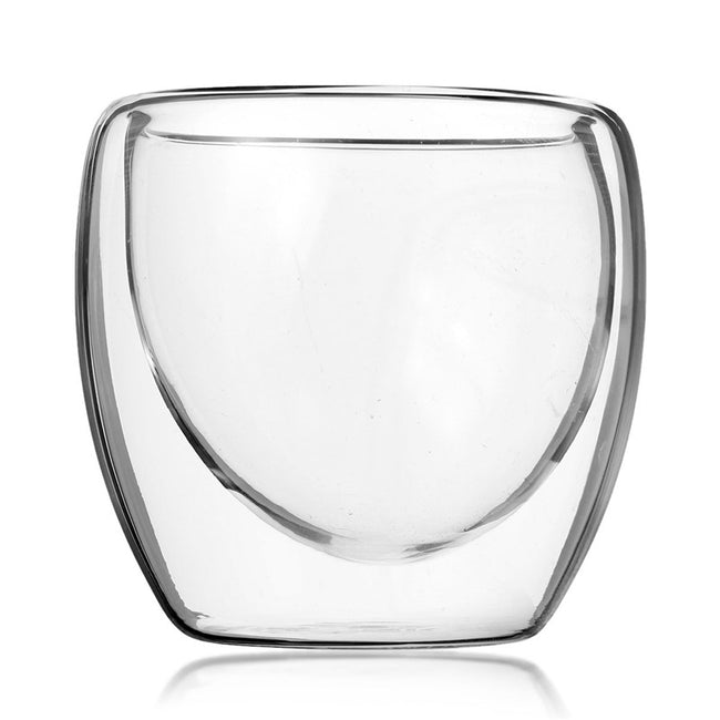 Double Wall Thermal Coffee Glass