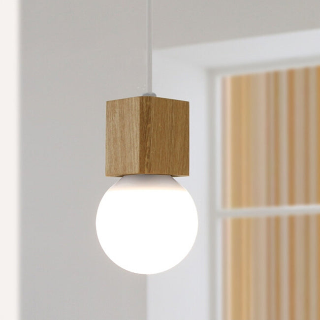 Oak Wood Pendant Light