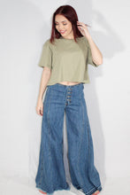 Cropped Basic (Smoke Green)