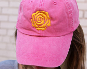 Yellow Rose Cap (Pink)