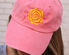 Yellow Rose Cap (Coral)