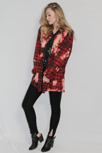 Fall Flannel (Red + Pink)
