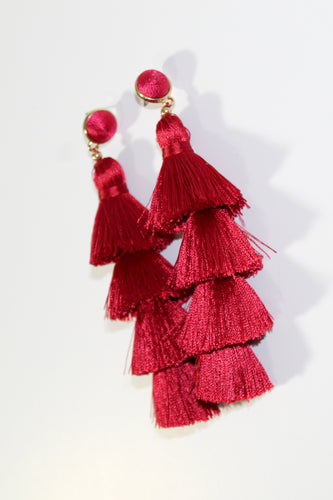 Earrings - Holiday Red