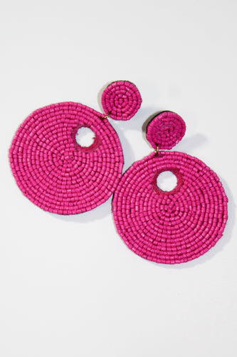 Earrings - Hot Pink