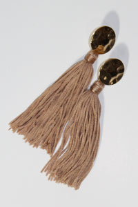 Earrings - Gold and Tan